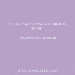 Quote of the Day – Making Friends In Kindergarten