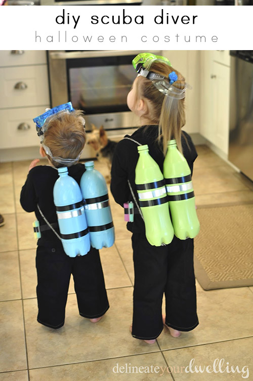 DIY Scuba Diver Costume by Delineate Your Dwelling