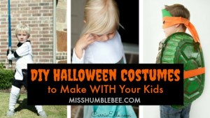 DIY Halloween Costumes to Make WITH Your Kids