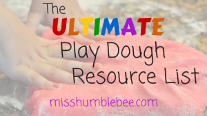 The Ultimate Play Dough Resource List
