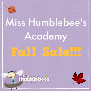 Miss Humblebee's Academy Fall Sale