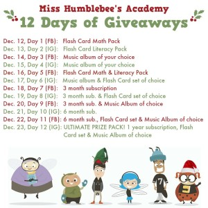 Miss Humblebee's 12 Days of Giveaways
