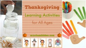 Thanksgiving Learning Activities for All Ages