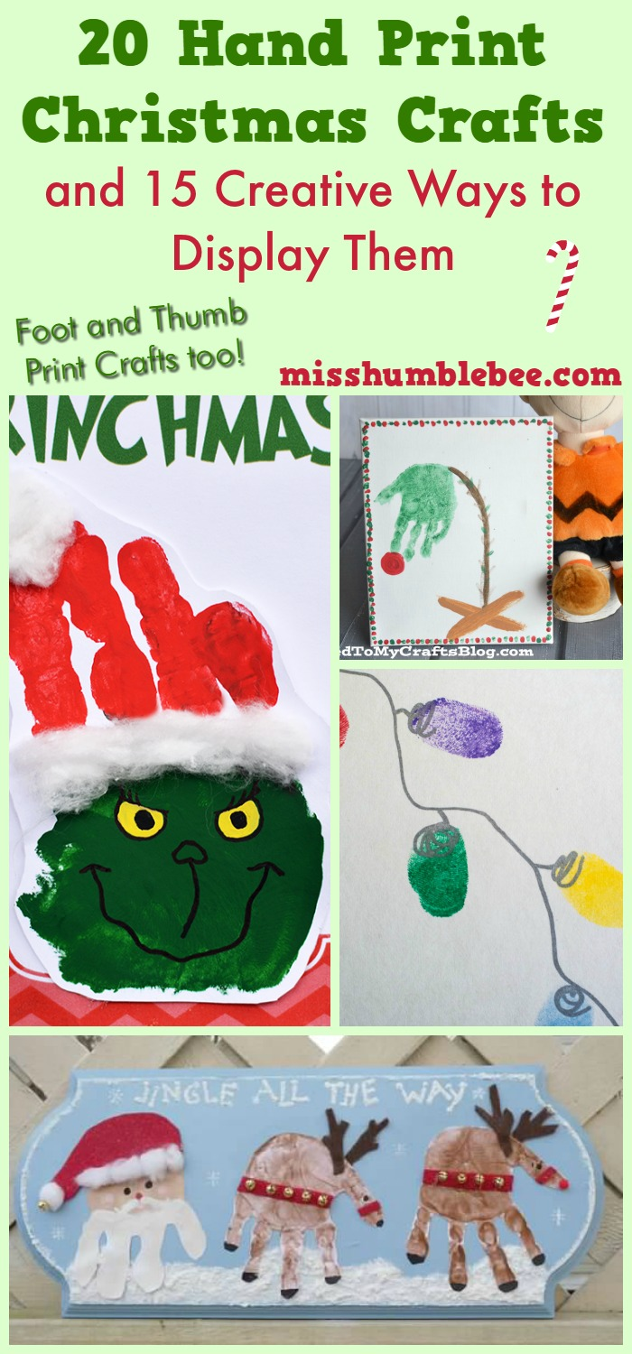 20 hand print christmas crafts and 15 creative ways to for Hand and foot crafts