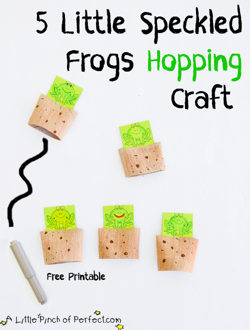 5 little speckled frogs hopping activity a little pinch of perfect