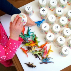 Dinosaur Letter Matching