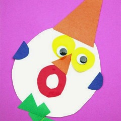 Clown Faces- Shapes and Color Exploration