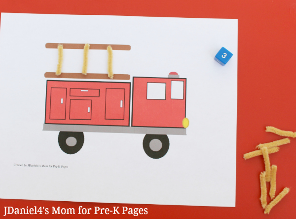 Fire-Truck-Counting-Numbers- pre-k pages