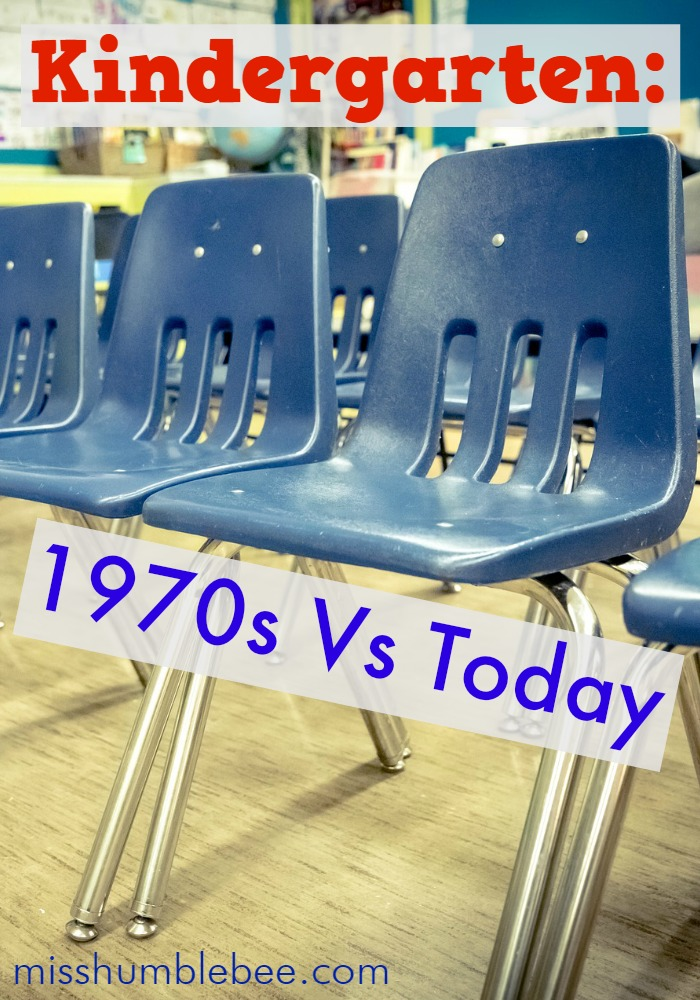 Much has changed between the kindergarten of the 1970s and the kindergarten of today. Here are a few of the differences.