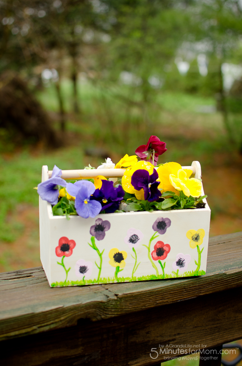 mothers day craft flower thumbprint planter 5 minutes for mom