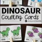 Dinosaur counting cards