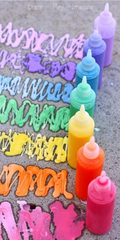 Rainbow Erupting Sidewalk Chalk Paint