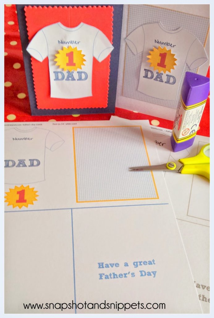 printable father's day cards snapshots and snippets