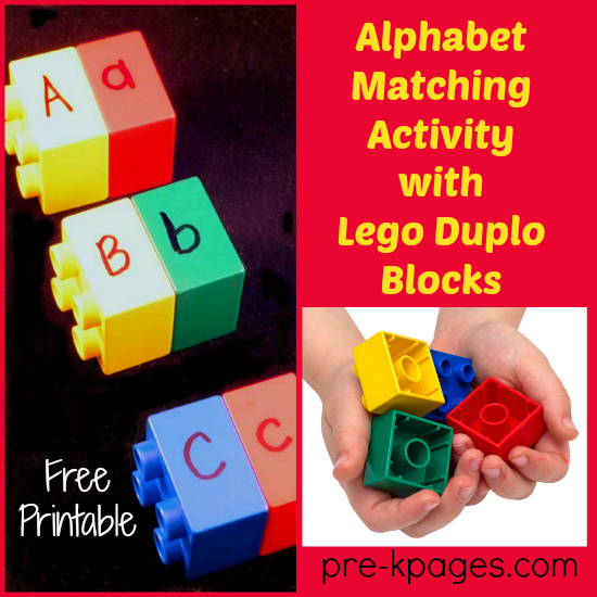 letter-matching-with-legos prek pages