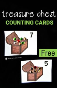Treasure Chest Counting Cards