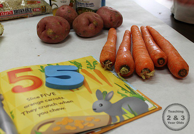 veggie soup teaching 2 and 3 year olds