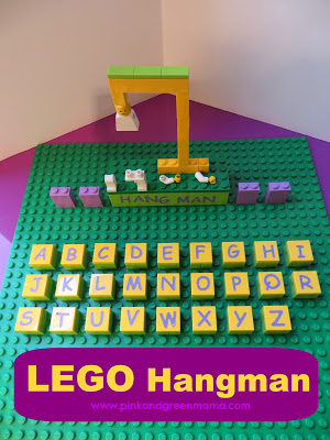 LEGO hangman pink and green mama blog