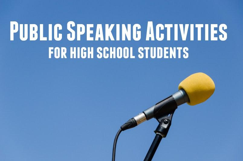 public speaking activities