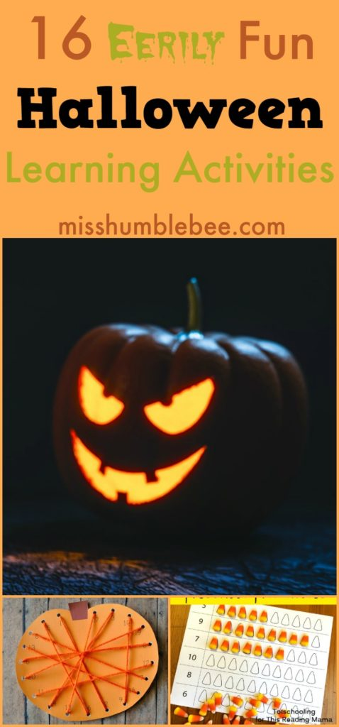 If you want to shift the focus of Halloween off the candy, try these fun and educational Halloween themed activities for kids!