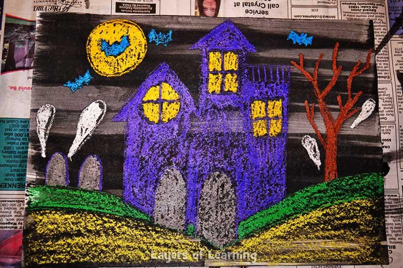 Halloween-Wax-Resist-Art-007 layers of learning