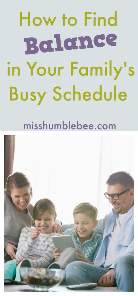Do you find your family with more activities on your schedule than there are hours in the day? You CAN find balance with these step-by-step tips.
