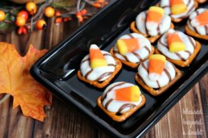 Candy Corn Pretzel Melts