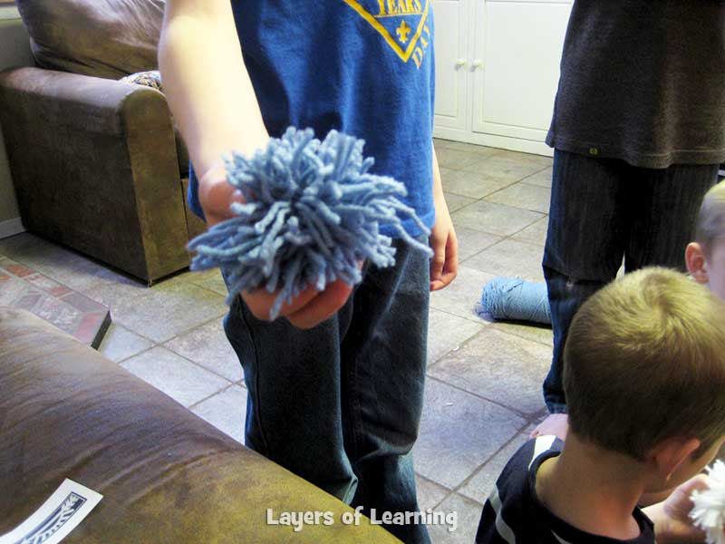 pom-pom-snowballs layers of learning