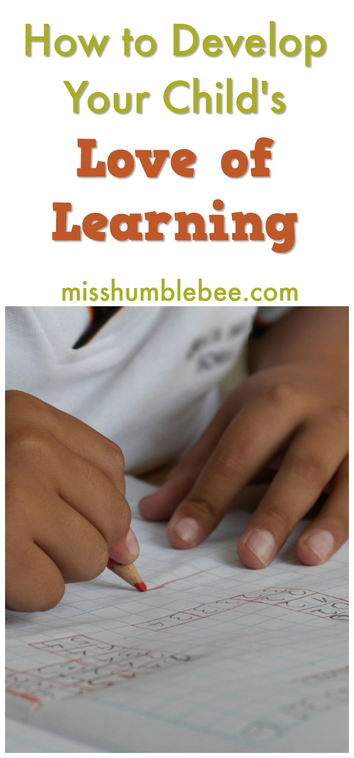 Help develop your child's love of learning for easier school days and a bright future.