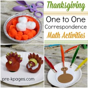 Thanksgiving One-to-One Correspondence